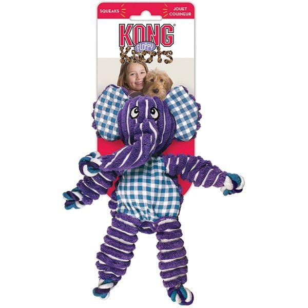 Hundespielzeug Kong® Floppy Knots Elefant