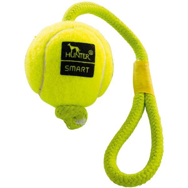 Hundespielzeug Tennisball mit Kordel