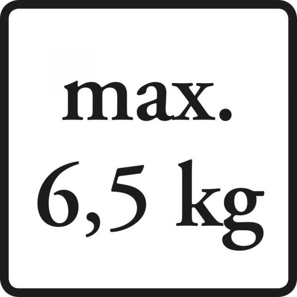 bis max. 6,5 kg belastbar